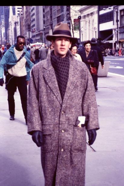 På promenad med min nya outfit i New York