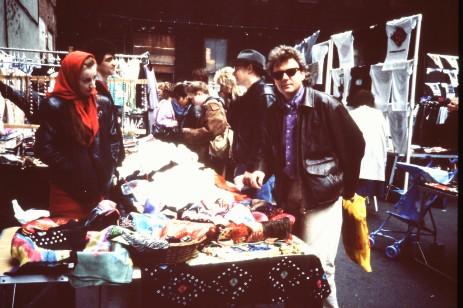 Olle Berggren på marknad i Soho